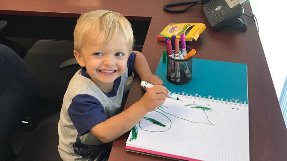 Just after his third birthday, Ryder was diagnosed with a rare form of childhood cancer. Source: Supplied