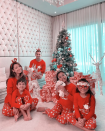Former Malaysian TV host Marion Caunter dressed her family in matching Christmas wear. (PHOTO: Marion Caunter Instagram)