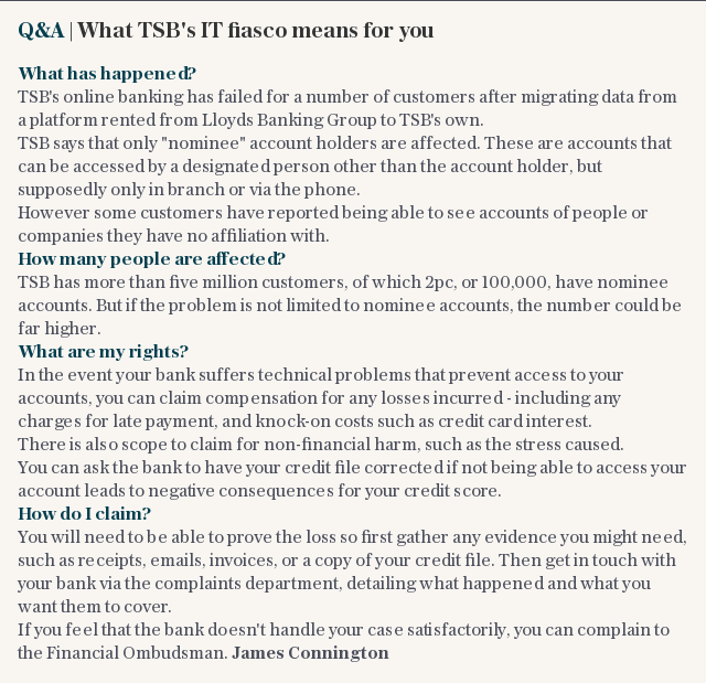 Q&A | What TSB's IT fiasco means for you