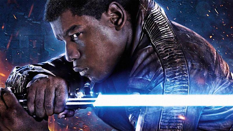 John Boyega as Finn in a promotional image for Star Wars: The Last Jedi