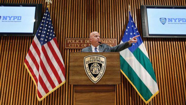 PHOTO: New York Police Department (NYPD) Commissioner James P. O'Neill speaks at a news conference at Police Headquarters in New York, Aug. 19, 2019. (Eduardo Munoz/Reuters)