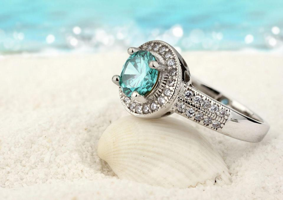 """<p>As its name suggests, Aquamarine is the color of the sea. Because of their association with crystal-clear water, <a href=""""https://www.gia.edu/birthstones/march-birthstones"""" rel=""""nofollow noopener"""" target=""""_blank"""" data-ylk=""""slk:they symbolize purity of spirit and soul"""" class=""""link rapid-noclick-resp"""">they symbolize purity of spirit and soul</a>, according to the Gemological Institute of America (GIA). Bloodstones are almost the opposite: They're dark green stones with flecks of red iron oxide (the """"blood""""). These are said to bring health and strength to the wearer, the GIA notes.</p><p><strong>RELATED:</strong> <a href=""""https://www.goodhousekeeping.com/life/g5065/february-baby-facts/"""" rel=""""nofollow noopener"""" target=""""_blank"""" data-ylk=""""slk:Interesting Facts About People Born in February"""" class=""""link rapid-noclick-resp"""">Interesting Facts About People Born in February</a></p>"""