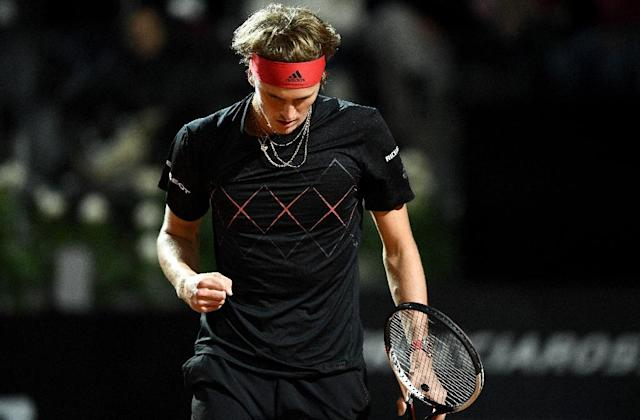 Defending champion Alexander Zverev eased into the third round in the Italian capital (AFP Photo/FILIPPO MONTEFORTE)