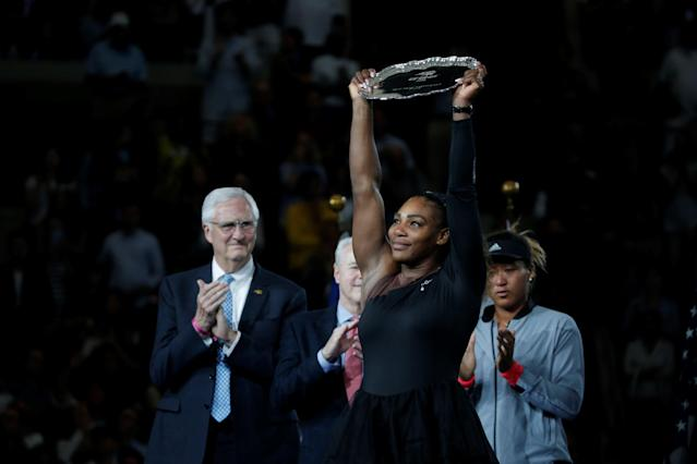 """<a class=""""link rapid-noclick-resp"""" href=""""/olympics/rio-2016/a/1132744/"""" data-ylk=""""slk:Serena Williams"""">Serena Williams</a>'s five AP Female Athlete of the Year wins are second-most all-time. (Getty)"""