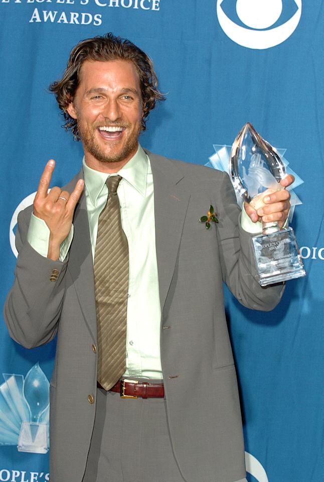 "<a href=""http://movies.yahoo.com/movie/contributor/1800018907"">Matthew McConaughey</a> winner of Favorite Male Action Star The 32nd Annual People's Choice Awards - 01/10/2006"