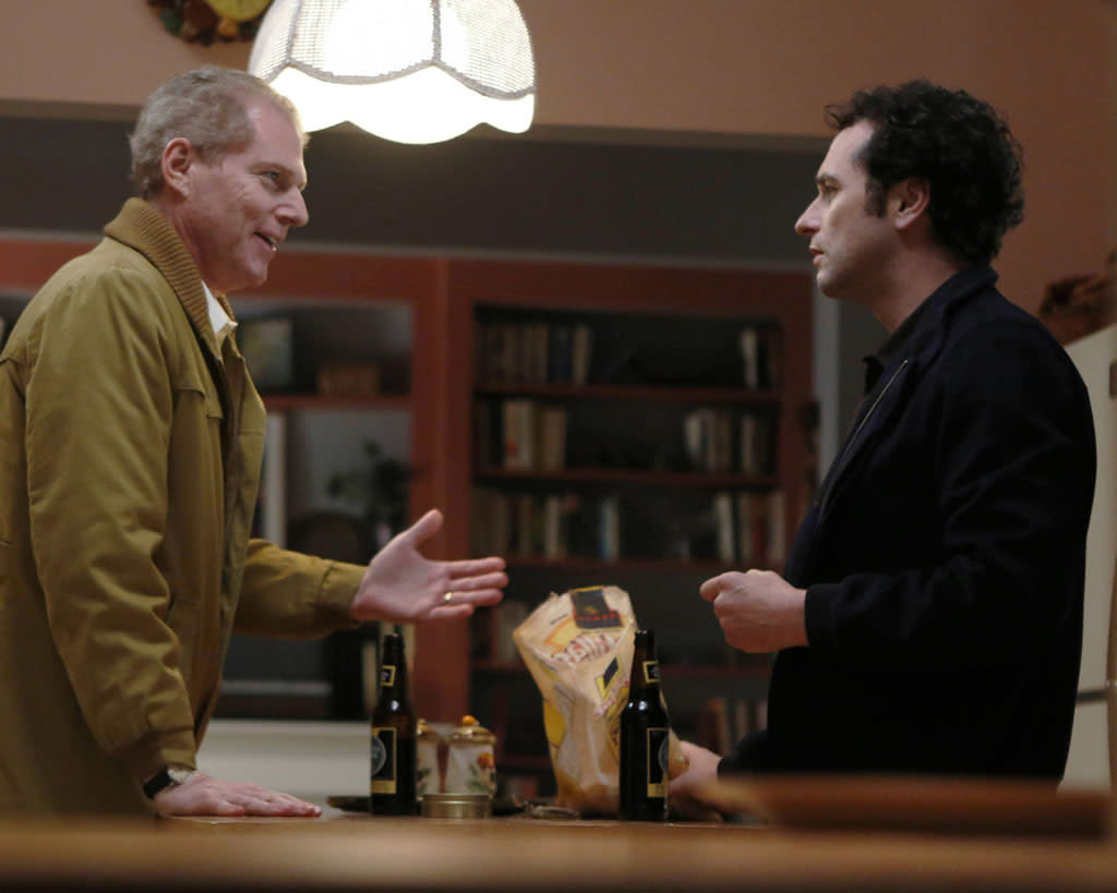 """The Clock"" -- Noah Emmerich as FBI Agent Stan Beeman, Matthew Rhys as Philip Jennings"