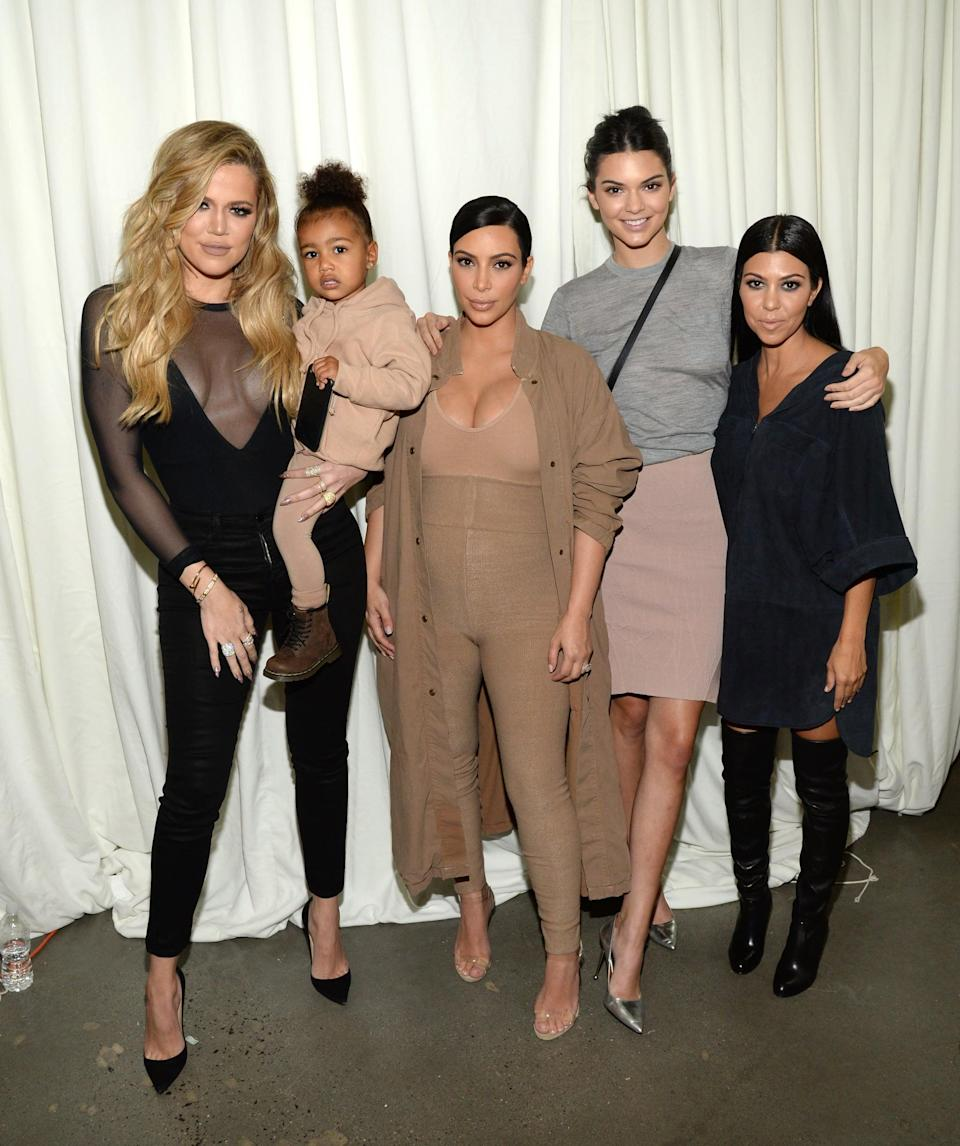 "<p>In 2015, we saw the rise of Yeezy as it was when Kanye released his first collection. Obviously, the pieces made it into the closet of each family member - <a href=""https://www.popsugar.com/celebrity/Kim-Kardashian-North-West-Yeezy-Season-2-Fashion-Show-38430878"" class=""link rapid-noclick-resp"" rel=""nofollow noopener"" target=""_blank"" data-ylk=""slk:North included"">North included</a>!</p>"