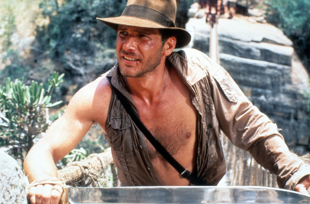 Harrison Ford in a scene from the film 'Indiana Jones And The Temple Of Doom', 1984. (Photo by Paramount/Getty Images)