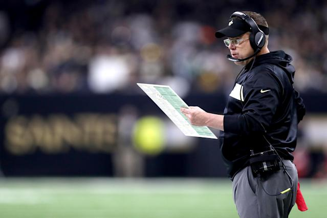 True to form, Sean Payton rolled the dice when the Saints needed a spark on Sunday. (Getty)