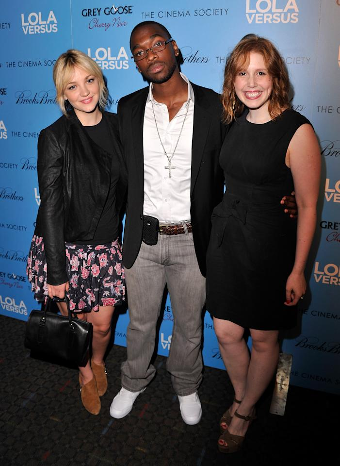 "NEW YORK, NY - JUNE 05:  Actors Abby Elliott, Jay Pharoah, and Vanessa Bayer attend The Cinema Society & Fox Searchlight With Groundswell Productions Screening Of ""Lola Versus"" at SVA Theater on June 5, 2012 in New York City.  (Photo by Stephen Lovekin/Getty Images)"