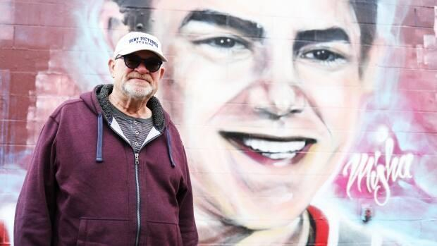 Lorne Pavelick is Misha Pavelick's father. He said he's grateful for a new mural in memory of his son.  (Heidi Atter/CBC - image credit)