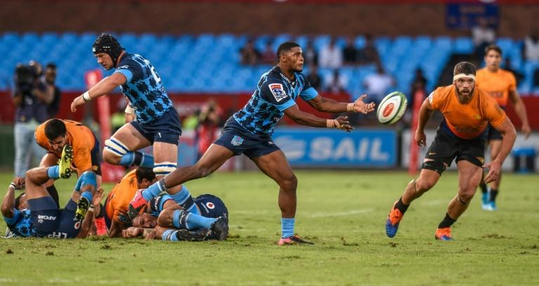 Stormers full-back Warrick Gelant (C) scored the match-winning try against the Pumas in a South African Super Rugby Unlocked match Friday.