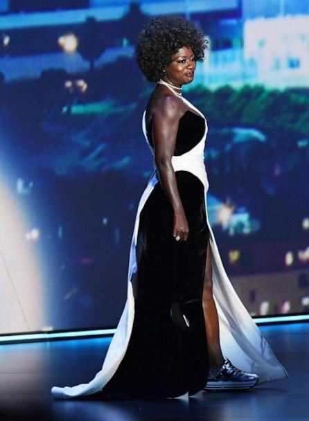 PHOTO: Viola Davis stands onstage during the 71st Emmy Awards at Microsoft Theater on Sept. 22, 2019, in Los Angeles. (Kevin Winter/Getty Images)