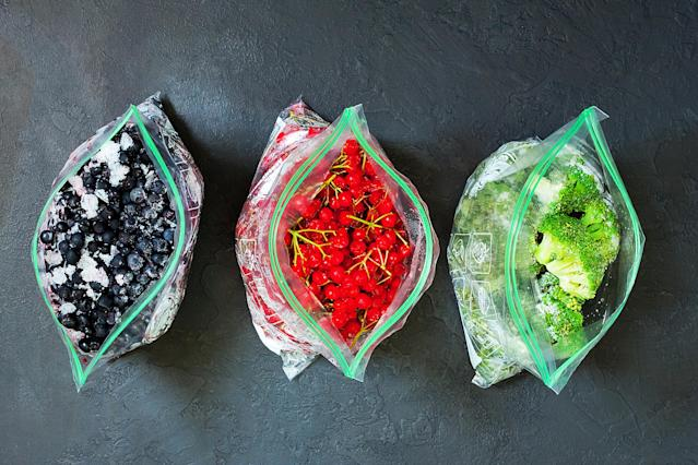 Many of us are turning to our freezers for fruit and veg right now. (Getty Images)