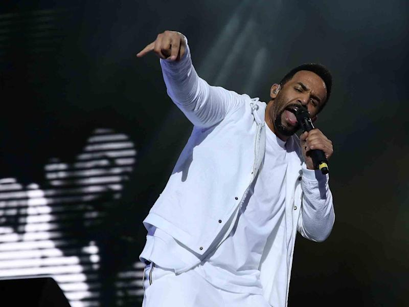Craig David performs live on stage at the O2 Arena on March 25, 2017 in London: Getty