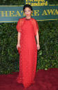 <p>Ruth's red Valentino gown was a festive addition to the red carpet. <i>[Photo: Getty]</i> </p>
