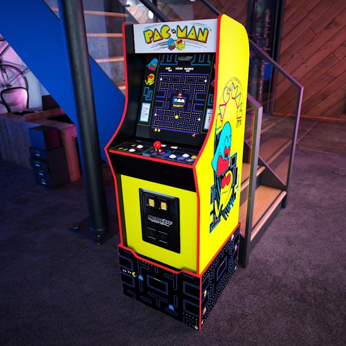 Arcade1Up's Bandai Namco Legacy Edition and Midway Legacy Edition cabinets ($399) each house several games from the respective arcade publisher. While they're 3/4-size replicas of authentic '80s stand-up cabinets, the included risers bring them to full height.