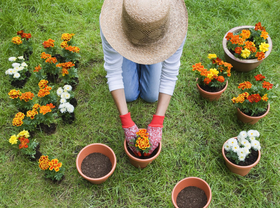 Gardening is a great way to chill out. (Photo: Getty)