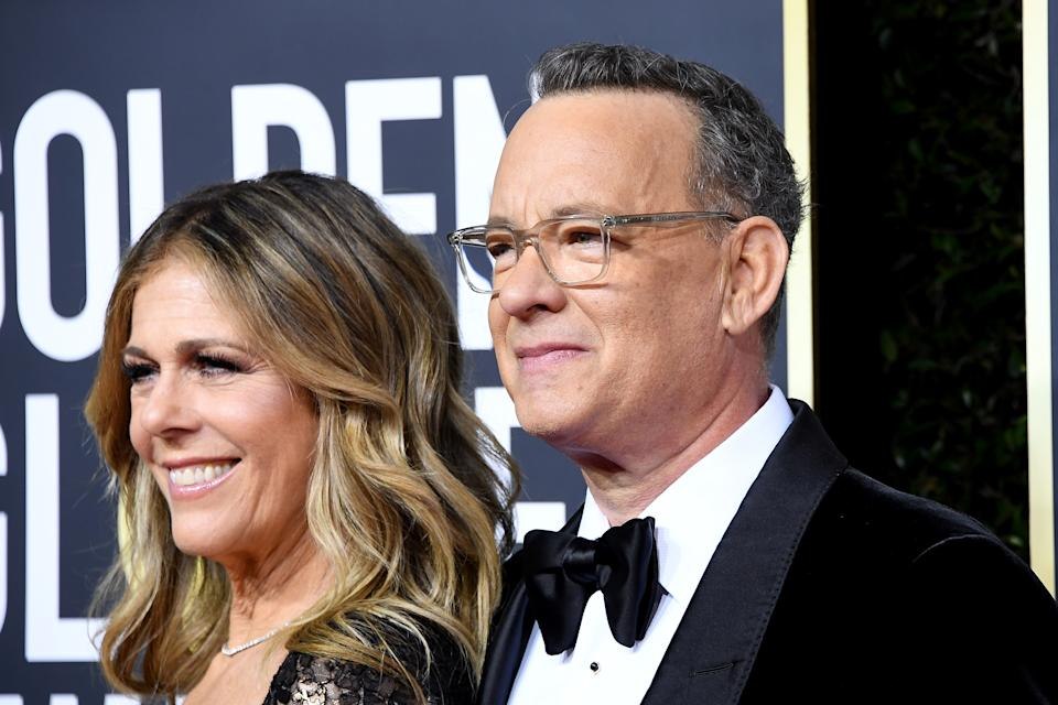 BEVERLY HILLS, CALIFORNIA - JANUARY 05: Rita Wilson and Tom Hanks attend the 77th Annual Golden Globe Awards at The Beverly Hilton Hotel on January 05, 2020 in Beverly Hills, California. (Photo by Steve Granitz/WireImage)