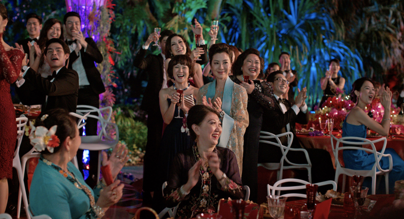 "Michelle Yeoh (center) in ""Crazy Rich Asians."" (Warner Bros.)"