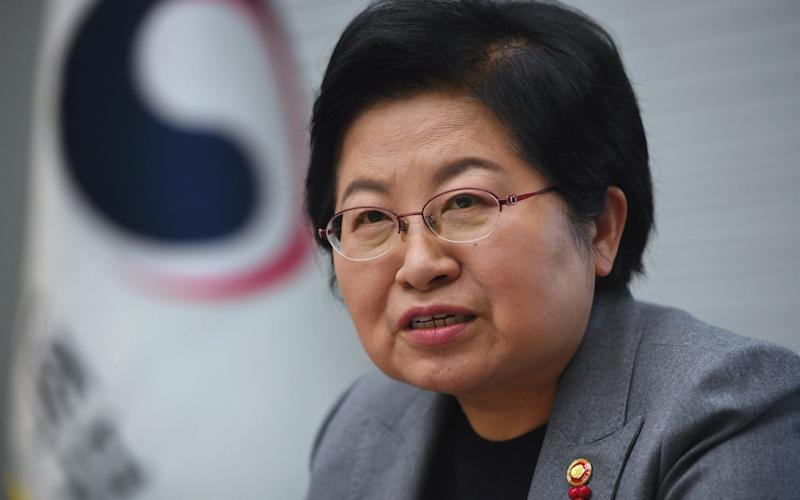 Chung Hyun-back was applauded by feminists but ridiculed by a former judge - AFP