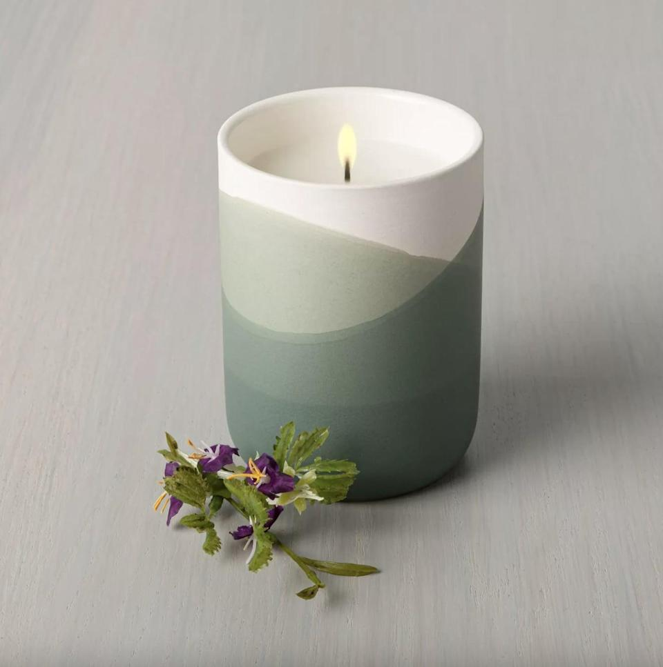 <p>This <span>Meadow Dipped Ceramic Candle</span> ($13) has an earthy boho vibe that will make any space more relaxing.</p>