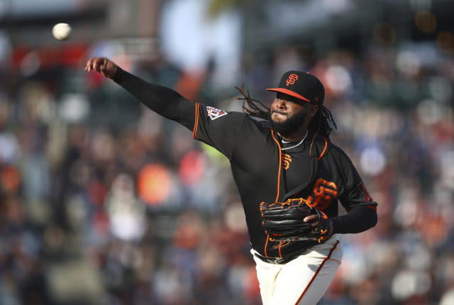 "<a class=""link rapid-noclick-resp"" href=""/mlb/players/8172/"" data-ylk=""slk:Johnny Cueto"">Johnny Cueto</a>'s 2018 season is over, and his 2019 season might be at risk as well. (AP Photo)"