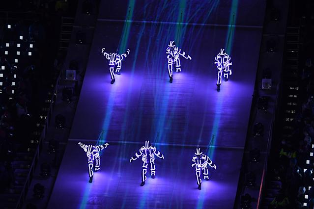 <p>Entertainers perform during the Closing Ceremony of the PyeongChang 2018 Winter Olympic Games at PyeongChang Olympic Stadium on February 25, 2018 in Pyeongchang-gun, South Korea. (Photo by David Ramos/Getty Images) </p>