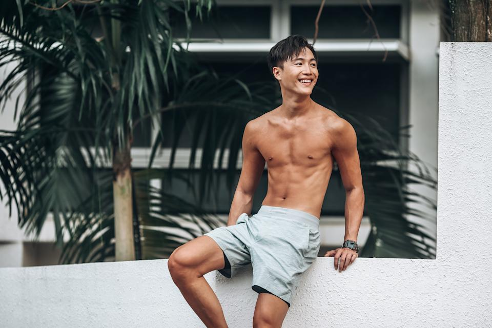 Xavier Ong follows a ketogenic diet, staying away from sugar and hard carbs.