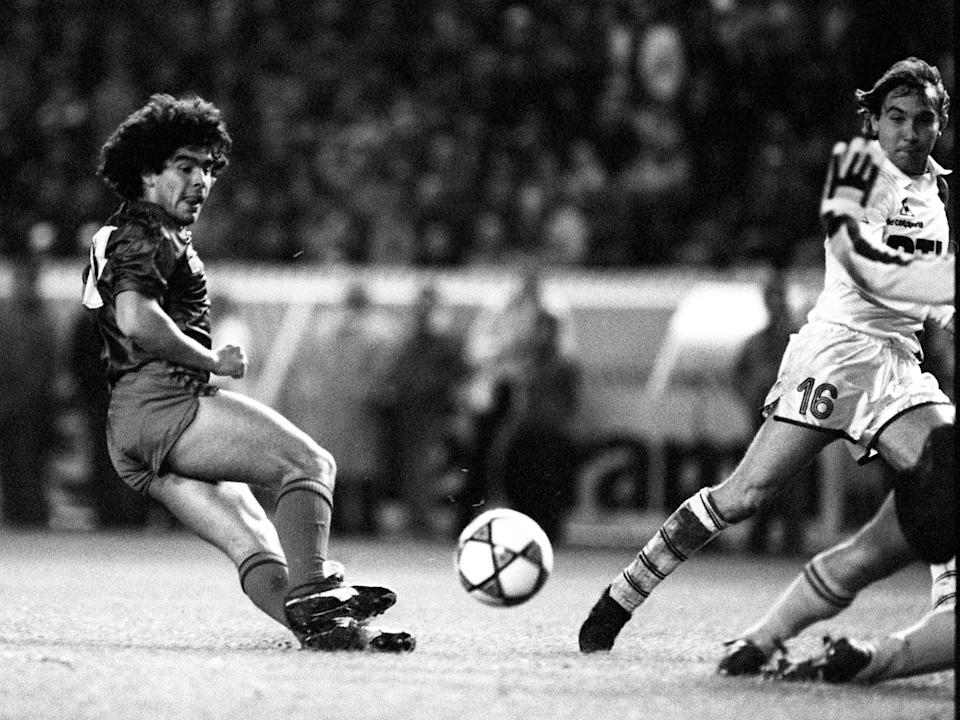 <p>Playing for Barcelona in 1982</p>AFP/Getty