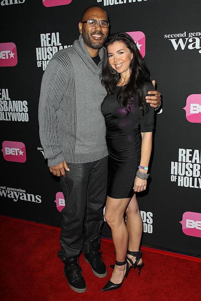 """Wayne Stamps and Erika Elizondo arrive at the screenings of BET Networks' """"Real Husbands of Hollywood"""" and """"Second Generation Wayans"""" held at the Regal Cinemas L.A. Live on January 8, 2013 in Los Angeles, California."""