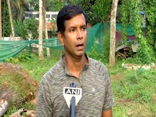 Vinod Venugopal along with his partners harvested 11,500 kilograms of tapioca in eight months. (Photo/ANI)