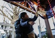 <p>Buddhist temples all over Japan rings their bells 108 times at the stroke of midnight on New Year's. The ringing is a symbolic purging of the 108 sins that are part of Buddhist beliefs. Some temples invite people to come ring the bells for them. </p>