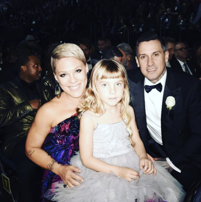 "<p>""We f***ing did that!"" the ""Beautiful Trauma"" songstress wrote in a recap of her Grammys with husband Carey Hart, 6-year-old daughter Willow, and mom Judith Moore. ""Willow met her idol tonight @badgalriri … her fav performances were Kendrick, me, and Gaga. My mom had fun and looked so fancy I can't even stand it. My husband looked amazing and made me a flask of old fashioned. I wore a custom Armani feather dress cause I'm FUN. I sang my f***ing heart out for the cause, a song I wrote for the suffragette movement, barefoot in a white T-shirt and jeans… I lost my 19th Grammy nomination, I consoled another talented loser, whom I love, and I kept my feet on the ground (cause spectators like to dare me to). Y'all I'm so proud of myself I'm gonna buy myself a drink tonight. Perseverance. perspective, gratitude."" (Photo: <a href=""https://www.instagram.com/p/Behbh53FVPf/?taken-by=pink"" rel=""nofollow noopener"" target=""_blank"" data-ylk=""slk:P!nk via Instagram"" class=""link rapid-noclick-resp"">P!nk via Instagram</a>) </p>"