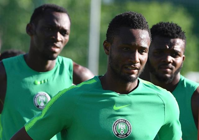 Nigeria train ahead of their match with Iceland (AFP Photo/PIUS UTOMI EKPEI)