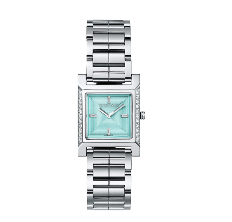 Tiffany 1837 Makers 22 mm Square Watch with Diamonds, $5,700 (Photo: Tiffany & Co.)