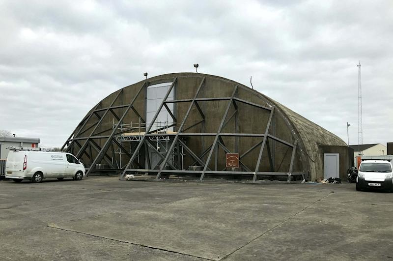 A worker on the site at RAF Upper Heyford said two hangars were converted in a week to hold 600 corpses each. Work is ready to start on two further hangars if the death toll rises, with five more on standby to bring total capacity to 5,400 (SWNS)
