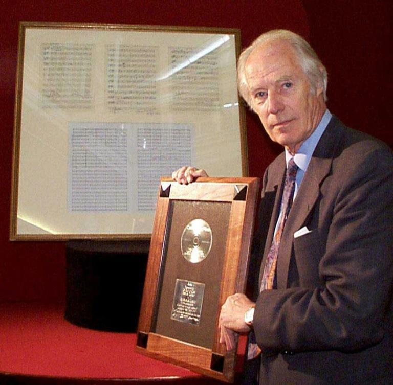 Beatles producer George Martin produced 30 British number one singles, won six Grammys and was knighted by Queen Elizabeth II in 1996