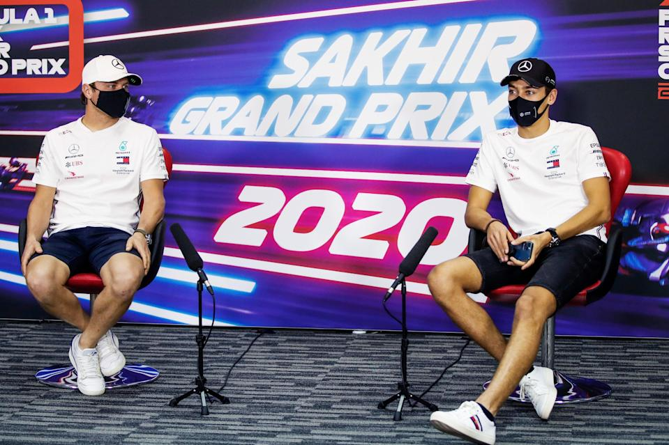 <p>Valtteri Bottas will be partnered by George Russell for Sunday's Sakhir Grand Prix</p> (Getty Images)