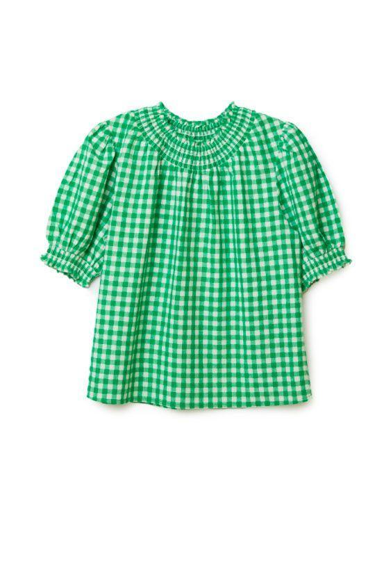 """<p><a class=""""link rapid-noclick-resp"""" href=""""https://www.albaray.co.uk/collections/tops/products/green-short-sleeve-gingham-top"""" rel=""""nofollow noopener"""" target=""""_blank"""" data-ylk=""""slk:SHOP NOW"""">SHOP NOW</a></p><p>Rising sustainable brand Albaray has become a firm favourite among editors and influencers for its cheer-inducing pieces that wll inject sunshine into any wardrobe. Although its <a href=""""https://www.albaray.co.uk/collections/dresses/products/black-gingham-midi-dress"""" rel=""""nofollow noopener"""" target=""""_blank"""" data-ylk=""""slk:scoop neck check dress"""" class=""""link rapid-noclick-resp"""">scoop neck check dress</a> is dominating Instagram feeds at the moment, we'd invest in the label's green short-sleeve top - a versatile staple excellent paired with cropped denim.</p><p>Green top, £49, <a href=""""https://www.albaray.co.uk/collections/tops/products/green-short-sleeve-gingham-top"""" rel=""""nofollow noopener"""" target=""""_blank"""" data-ylk=""""slk:Albaray"""" class=""""link rapid-noclick-resp"""">Albaray</a></p>"""