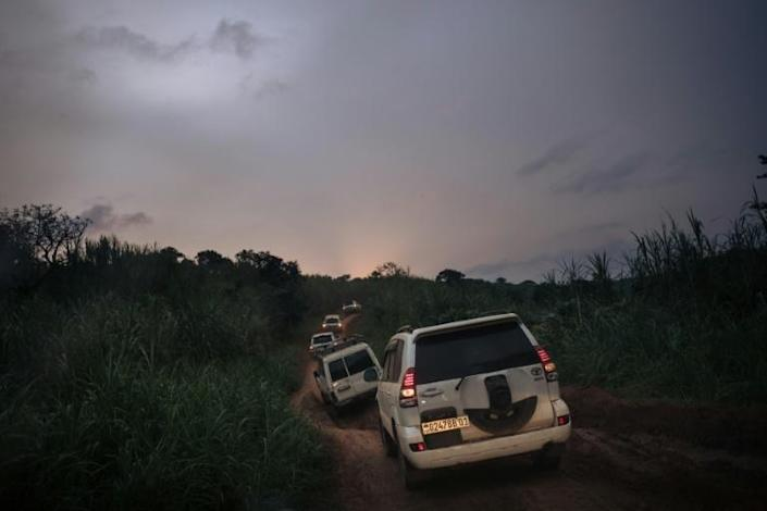 Nightfall: The convoy returns to Bunia after making its pitch for peace