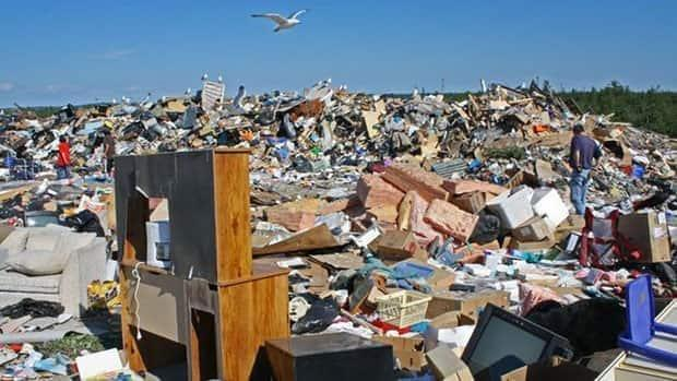 Yellowknife city landfill pictured in a file photo.