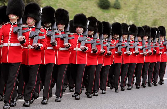 The famous regiment is often involved in ceremonial events. (PA Images)