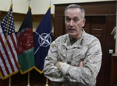 ISAF commander General Joseph Dunford speaks during an interview in Kabul