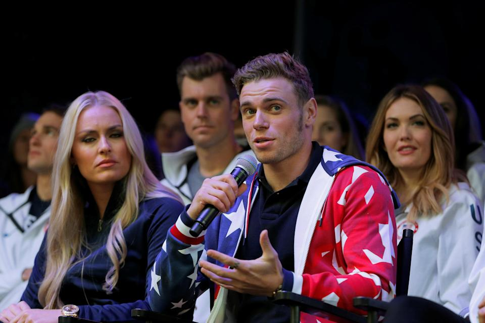 Gus Kenworthy took a jab at Vice President Mike Pence during the Opening Ceremony Friday. (Reuters)