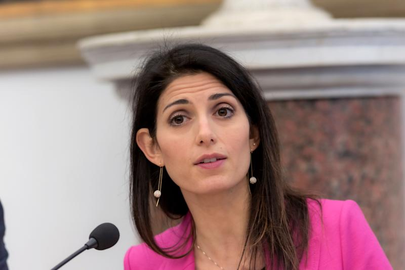 ROME, ITALY - JANUARY 08: The mayor of Rome Virginia Raggi, attends at the press conference in Campidoglio to present the extraordinary plan for the prevention of trees on January 8, 2020 in Rome, Italy. (Photo by Stefano Montesi - Corbis/ Getty Images) (Photo: Stefano Montesi - Corbis via Getty Images)