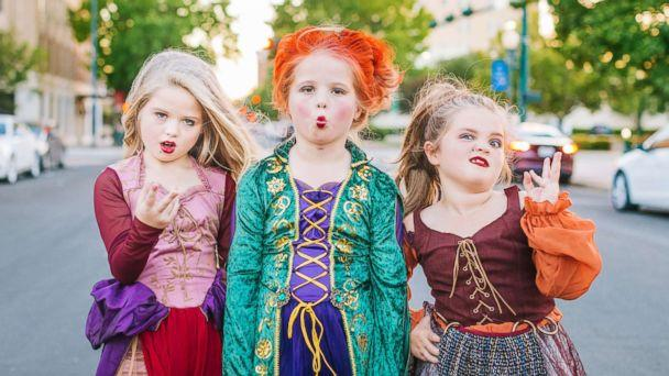 PHOTO: Mom Heather Grabenstein of Waco, Texas, is dressing her daughters, Landri, 6, and Alli and Maddi, both 8, as the Sanderson sisters from the classic Halloween film, 'Hocus Pocus.' (Heather Rust Photography)