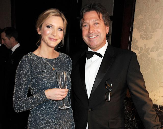 Lisa Faulkner and John Torode began dating in 2012 after the Australian chef asked her out in a letter. (Getty Images)