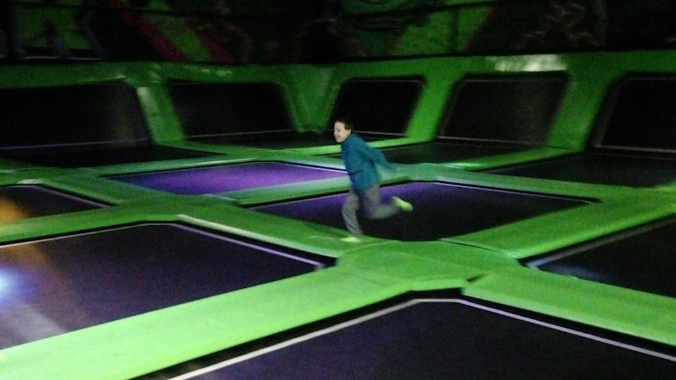 Andrew at the trampoline park.