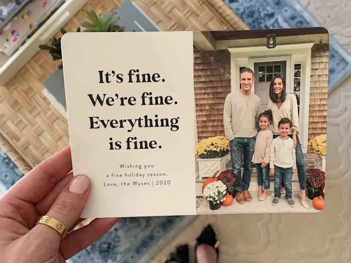 The Wyse family holiday card looks a little different in 2020.